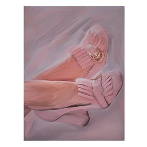 GUCCI SHOES FRAMED PAINTING